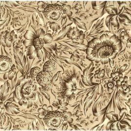 פרחים חומים מודפסים