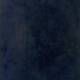 """בד קטיפה צרפתי  לכריכה קשה גוון כחול עמוק -גודל 35X50 ס""""מ – 13X19 אינץ"""