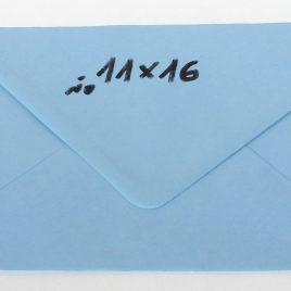 מעטפה 11X16- תכלת