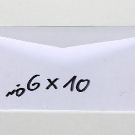 מעטפה לבנה 6X10