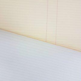 """100 דפי שורה נייר 80 גרם גוון שנהב/קרם, גודל 8.5X8.5 אינץ (21.6X21.6 ס""""מ )"""