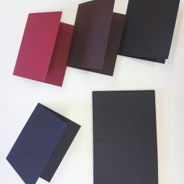 מארז 12 בסיסי נייר לכרטיסי ברכה שחור חלק 300 גרם 5.5X8.5 אינץ