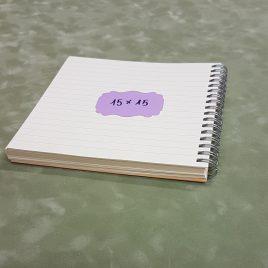"""בלוק ספירלה- 100 דפי שורה 80 גרם גודל 15X15 ס""""מ גוון שנהב מוכן בכריכת ספירלה ליצירת יומן /מחברת"""