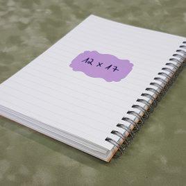 """בלוק ספירלה- 100 דפי שורה 80 גרם גודל 12X17 ס""""מ גוון שנהב בכריכת ספירלה ליצירת יומן/ מחברת"""