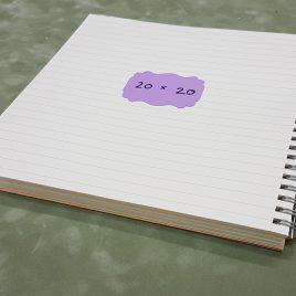 """בלוק ספירלה-100 דפי שורה 80 גרם גודל 20X20 ס""""מ גוון שנהב מוכן בכריכת ספירלה ליצירת יומן/מחברת"""