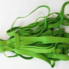 """גומי שטוח- גוון ירוק לואיזה רוחב 10 מ""""מ, איכותי למחברות יומנים אוגדנים ספרים ועוד…"""