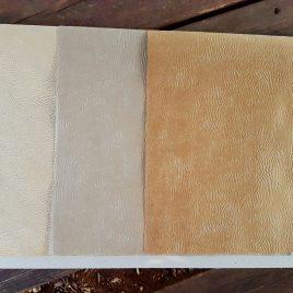 """מארז 45 דפים נייר קראפט עור פיל,  3 גוונים שונים ,גודל 13.5X19.5 אינץ- 35X50 ס""""מ"""