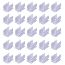 מארז 15 יחידות-  תופסן עט/כלי כתיבה – פלסטיק גמיש, לבן ,נדבק עם דבק דו צדדי