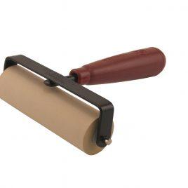 """גלגלת גומי- רולר – להידוק הדבקות בכריכה קשה נייר / בד  רוחב 4 """" אינץ (10 ס""""מ)"""