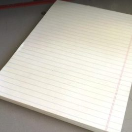 """100 דפי שורה נייר 110 גרם, גוון קרם, גודל 15X21 ס""""מ ( A5 )"""